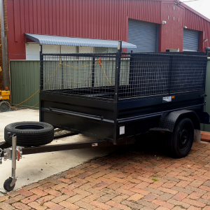 Single Axle Box Trailer available for hire