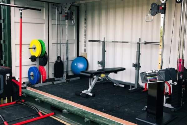 Ways to use a shipping container: Home gym