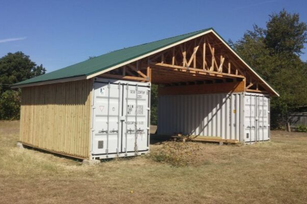 Ways to use a shipping container: Build a shed