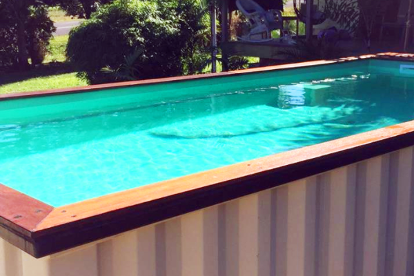 Ways to use a shipping container: Swimming Pool